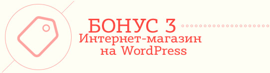 Бонус3. Интернет-магазин на WordPress.