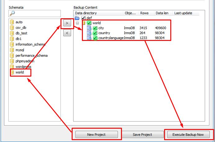 Как сделать бэкап базы в mysql