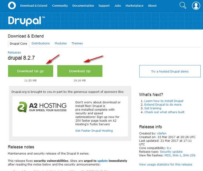 Как создать сайт в друпал - Selyanka.ru