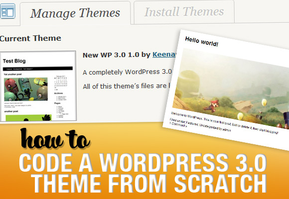 тема wordpress 3.0