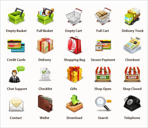 иконки по электронной коммерции