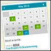 jQuery Event Calendar - Календарь событий