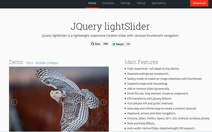 Установка и настройка слайдера jQuery lightSlider