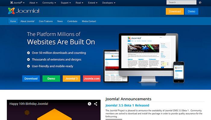 Скачать движок дял сайта joomla как правильно сделать структуру сайта