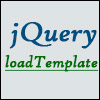 jQuery.loadTemplate
