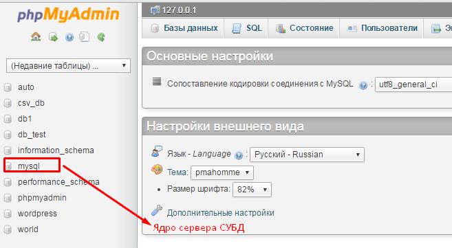 Mysql хостинг базы данных mysql смены хостинга