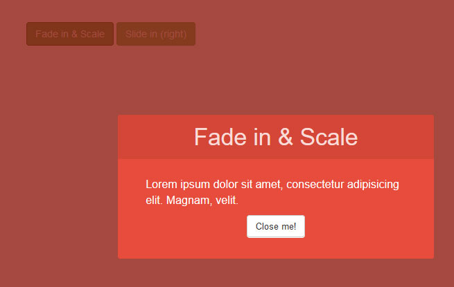 Топ плагинов jQuery. Плагин Modal Window Effects