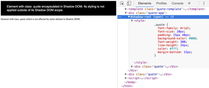 Shadow DOM != Virtual DOM