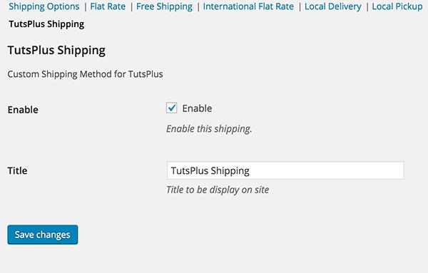 Создание пользовательского метода доставки для WooCommerce