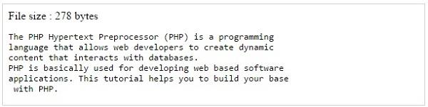 PHP — функции для работы с файлами и ввод-вывод