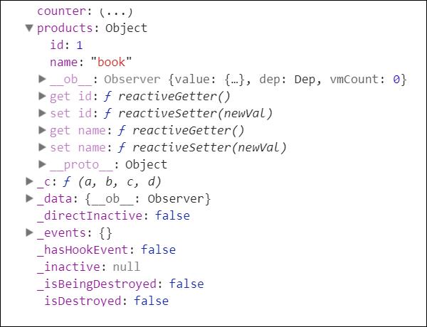 Существующие во Vue JS параметры для добавления реактивности