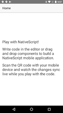 Начало работы с NativeScript-Vue 1.0
