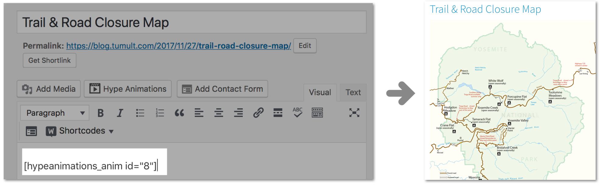 Создание анимации для эффективных постов в блоге с помощью WordPress и Tumult Hype