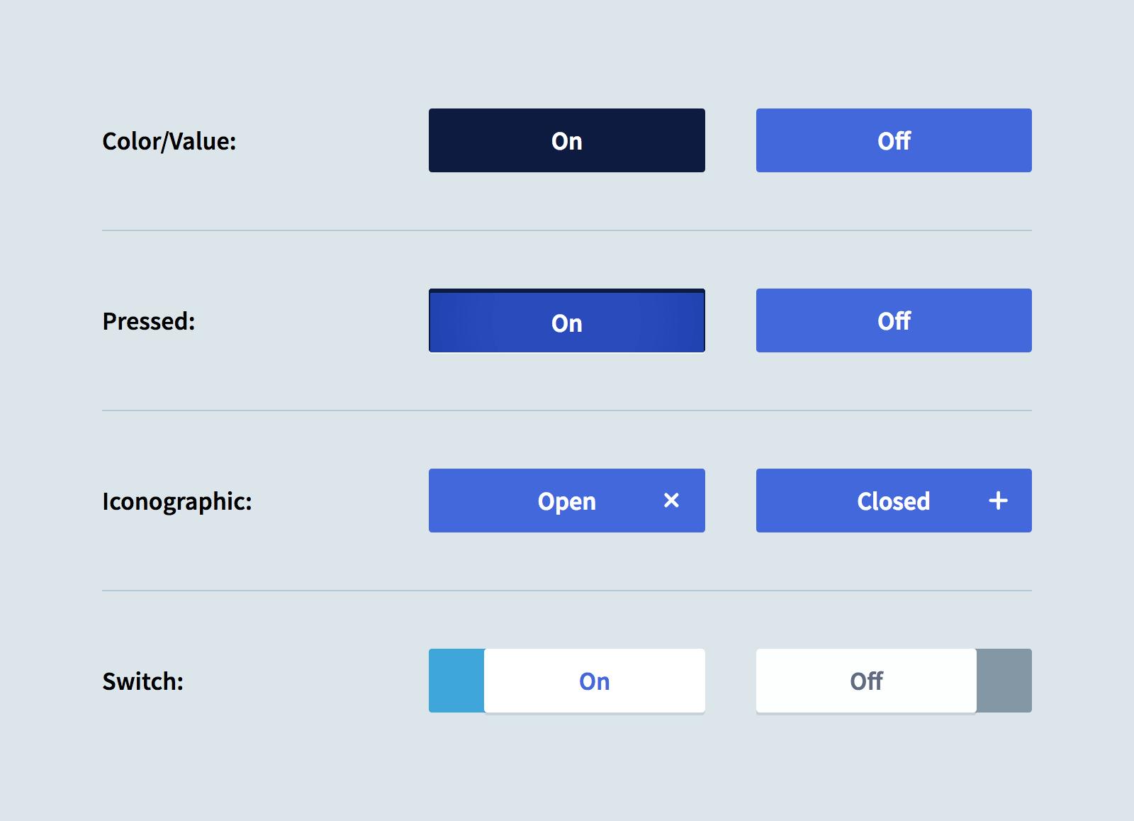 Дизайн состояний кнопок