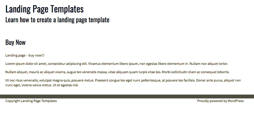 Как создать шаблон WordPress для целевой страницы