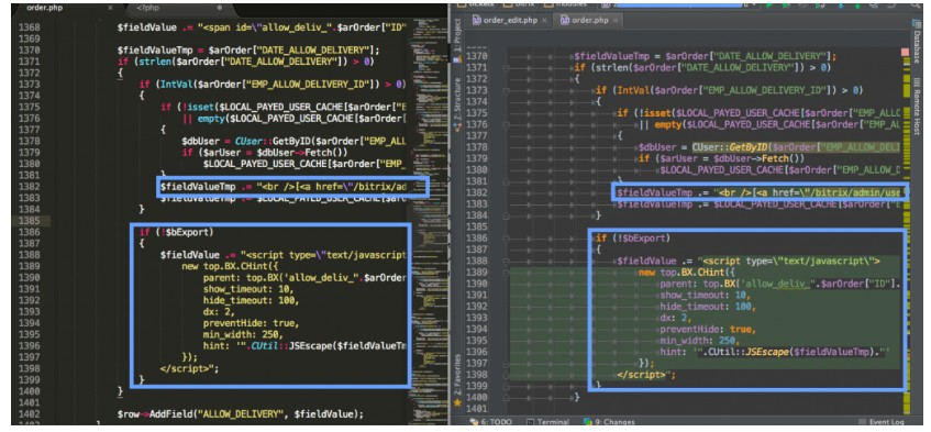 PhpStorm: подсветка кода