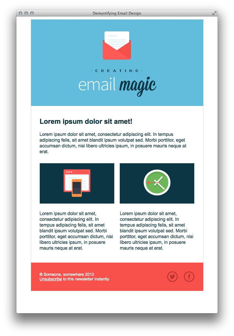 Создание с нуля HTML-шаблона электронного письма