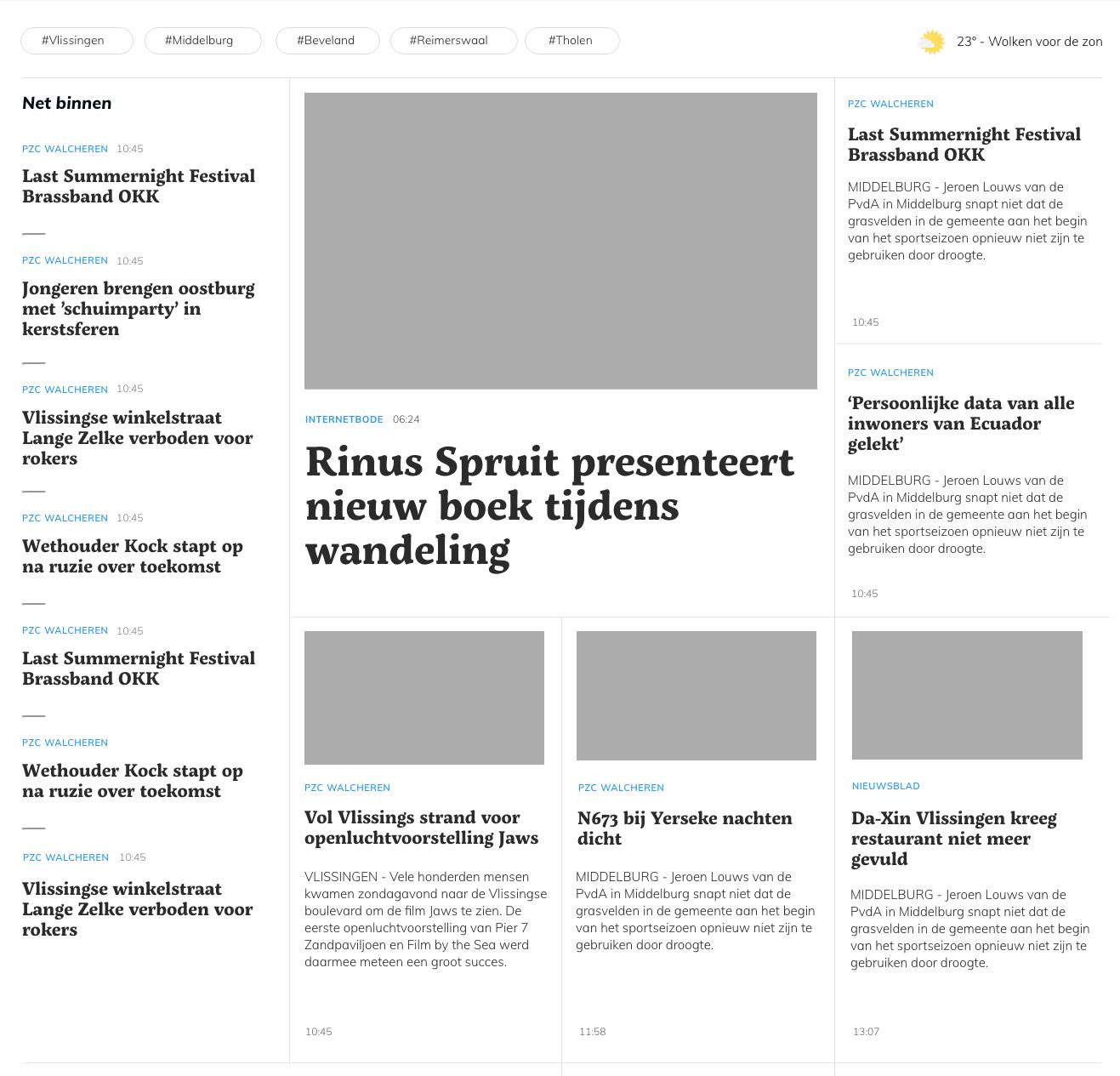 Методы создания газетного макета с помощью CSS-сетки и границ между элементами