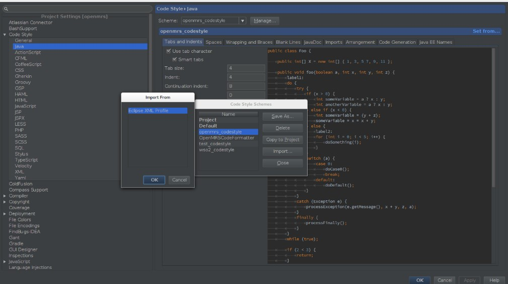 Особенности форматирования кода в IntelliJ IDEA