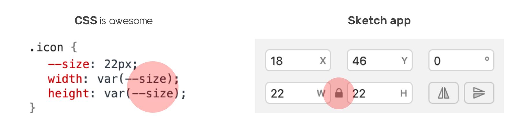 Пропорциональное изменение размера с помощью переменных CSS