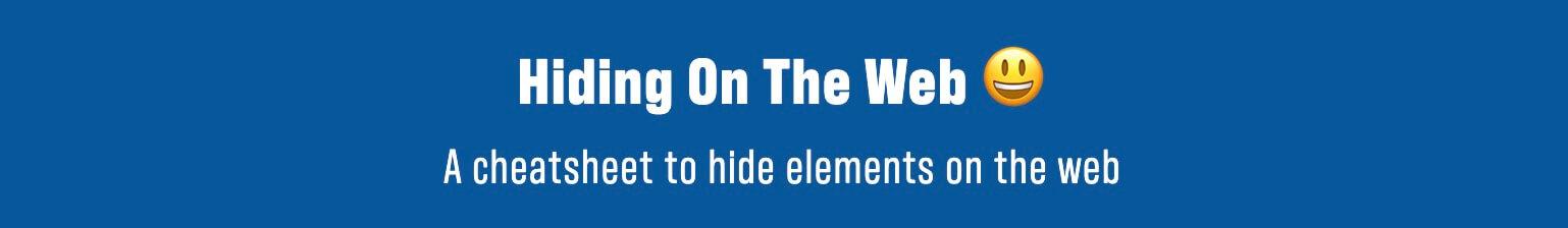 Скрытие элементов в Веб