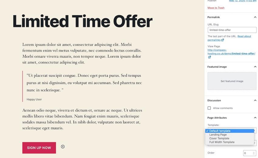 Как создать целевую страницу на WordPress